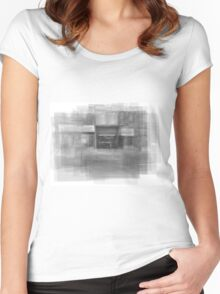 Redline Coffee and Espresso Cafe Streetscape Toronto Women's Fitted Scoop T-Shirt