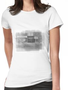 Redline Coffee and Espresso Cafe Streetscape Toronto Womens Fitted T-Shirt
