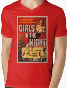 Vintage poster - Girls in the Night Mens V-Neck T-Shirt
