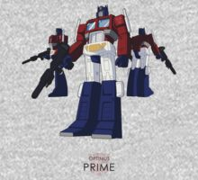 Optimus Prime - (colour) - light T-shirt  One Piece - Long Sleeve