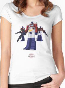 Optimus Prime - (colour) - light T-shirt  Women's Fitted Scoop T-Shirt