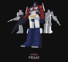 Optimus Prime - (mix) - dark T-shirt Kids Clothes