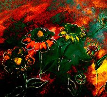 Orange Flowers and Regret.. by ©Janis Zroback