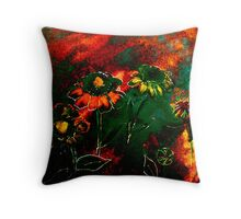 Orange Flowers and Regret.. Throw Pillow