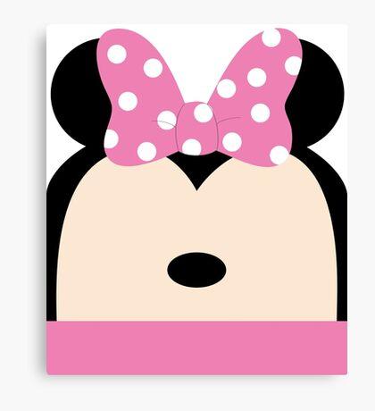 Minnie Pink Bow Canvas Print