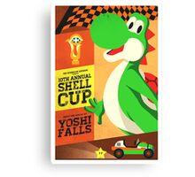 Yoshi Mario Kart Canvas Print