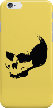 Halo skull IPhone case by Sam Mobbs