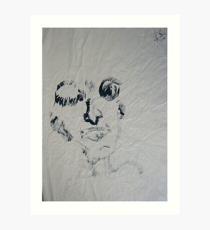 Blind #6 - (blindfolded)  Art Print