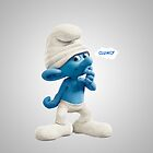 Clumsy Smurf by nad23