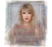 Taylor Swift Portrait Overlay Photographic Print