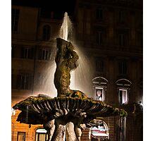 Rome's Fabulous Fountains - Bernini's Triton Fountain Photographic Print