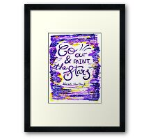 Van Gogh - Go Out And Paint The Stars Framed Print
