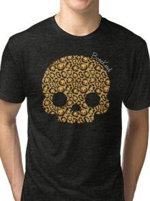 Bone Kandi - Leopard Print /dark/ Tri-blend T-Shirt