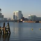 View across Cardiff Bay to the River Taff, Wales, UK by Michael Field