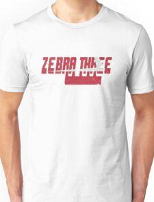 Vintage Seventies Look Zebra Three Call Sign Graphic Unisex T-Shirt