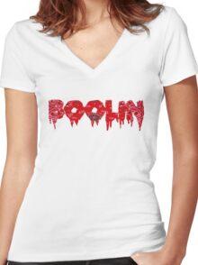 boolin Women's Fitted V-Neck T-Shirt