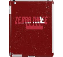 Vintage Seventies Look Zebra Three Call Sign Graphic iPad Case/Skin