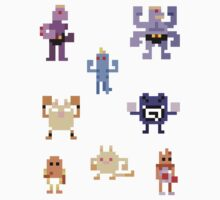 Mini Pixel Kanto Fighting Types - Set of 8 by pixelatedcowboy