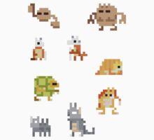 Mini Pixel Kanto Ground Types - Set of 9 by pixelatedcowboy