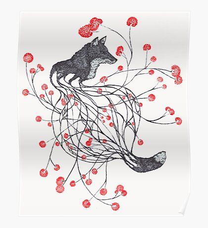 Blossom Fox Poster