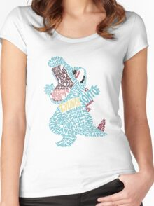 Totodile Typography Women's Fitted Scoop T-Shirt