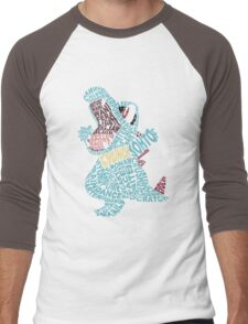 Totodile Typography Men's Baseball ¾ T-Shirt