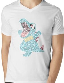 Totodile Typography Mens V-Neck T-Shirt