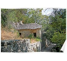 A Greek Mountain Cottage Poster