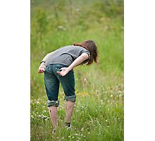 The girl & the meadow. Photographic Print
