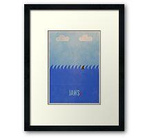 Minimal Jaws Print 2 Framed Print