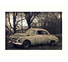 Old Car rural decay reclamation rusted rustic Art Print