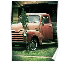 Old Chevy Truck No. 1 rustic Chevrolet vintage antique Poster
