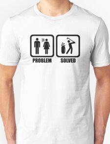 Funny Golf Problem Solved Shirt T-Shirt