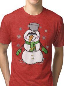 Cute snowman Tri-blend T-Shirt
