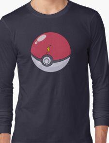 Pikachu's Pokeball Long Sleeve T-Shirt