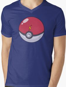 Pikachu's Pokeball Mens V-Neck T-Shirt
