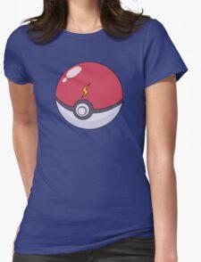 Pikachu's Pokeball Womens Fitted T-Shirt