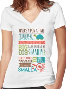 """Smalla than a bug"" Women's Fitted V-Neck T-Shirt"