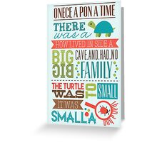 """Smalla than a bug"" Greeting Card"