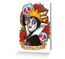 Evil Queen Snow White Disney Day Of The Dead Greeting Card