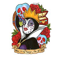 Evil Queen Snow White Disney Day Of The Dead Photographic Print