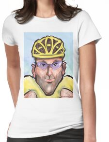 Lance Armstrong Caricature Womens Fitted T-Shirt