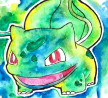 Cool BULBASAUR Watercolor Tshirts + More! ' Pokemon ' Jonny2may Sticker