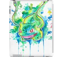 Cool BULBASAUR Watercolor Tshirts + More! ' Pokemon ' Jonny2may iPad Case/Skin
