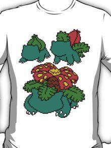 Bulbasaur, Ivysaur and Venusaur T-Shirt
