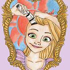 Rapunzel Cancer Awareness Purple Background by EmRachArt92