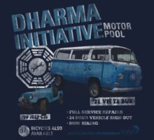 Dharma Initiative Motor Pool (LOST) by BenFraternale