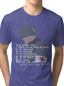 Eugene Roe shirt (dark) Tri-blend T-Shirt