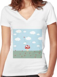Garden Party Women's Fitted V-Neck T-Shirt