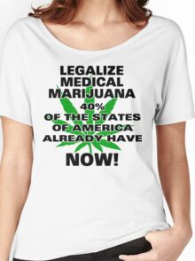 Legalize Medical Marijuana NOW! Women's Relaxed Fit T-Shirt
